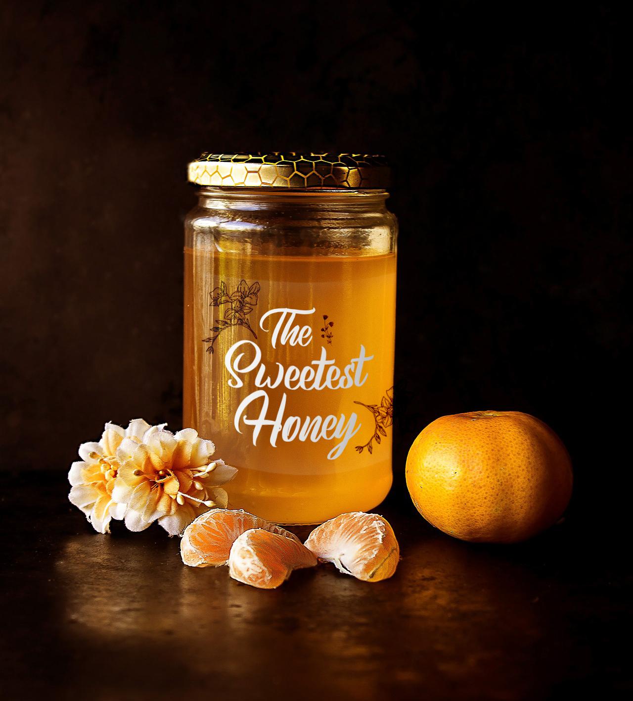 honey jar- white sticker