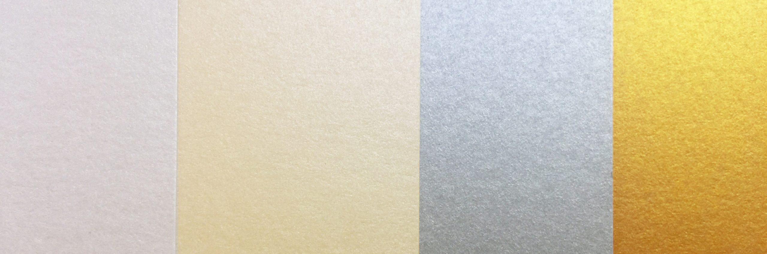 metallic paper samples - 4 colours