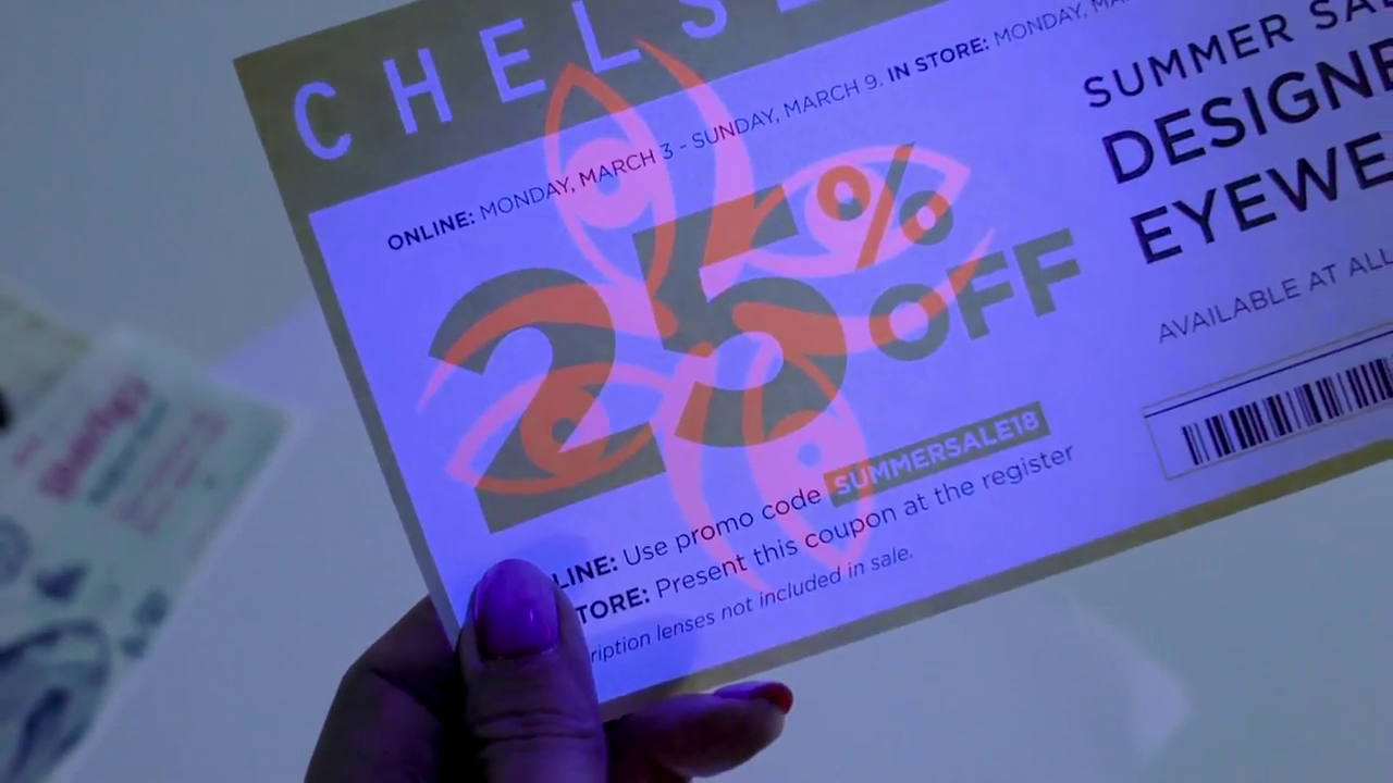 Invisible Red on Coupons