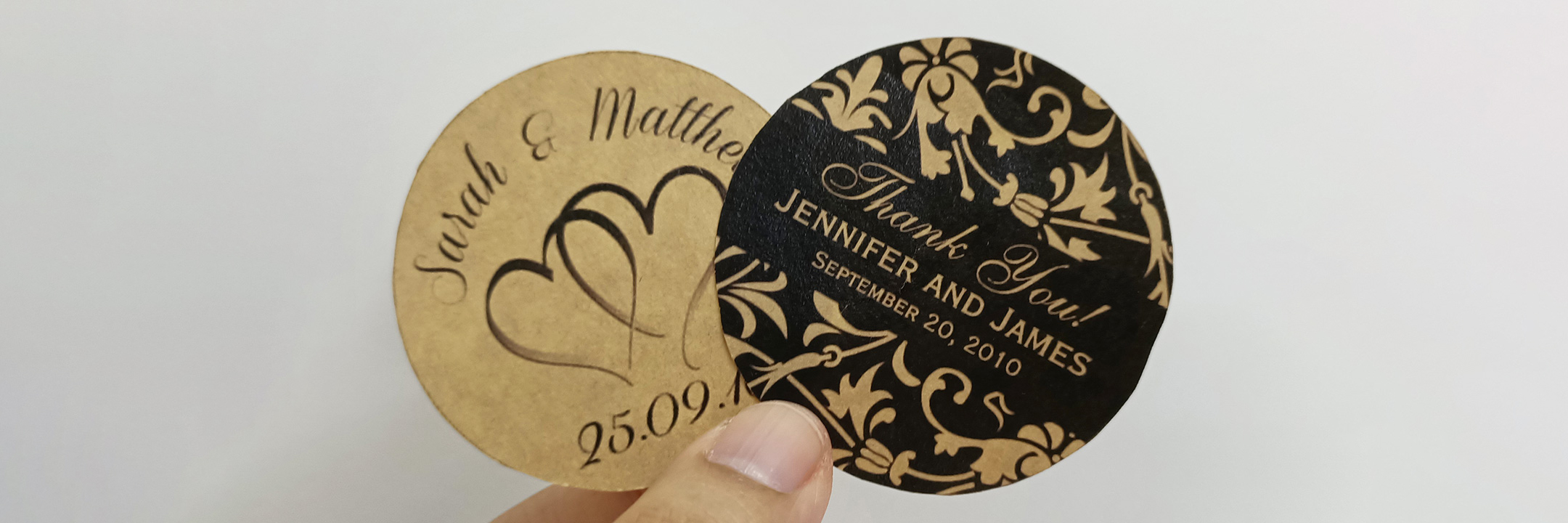 kraft wedding sticker